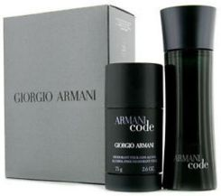 Armani Code For Men woda toaletowa spray 75ml + dezodorant sztyft 75ml