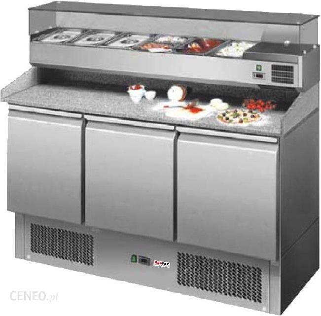 Chłodny Urządzenie chłodnicze Redfox Stół Chłodniczy Do Pizzy 3-Drzwiowy Z CH25