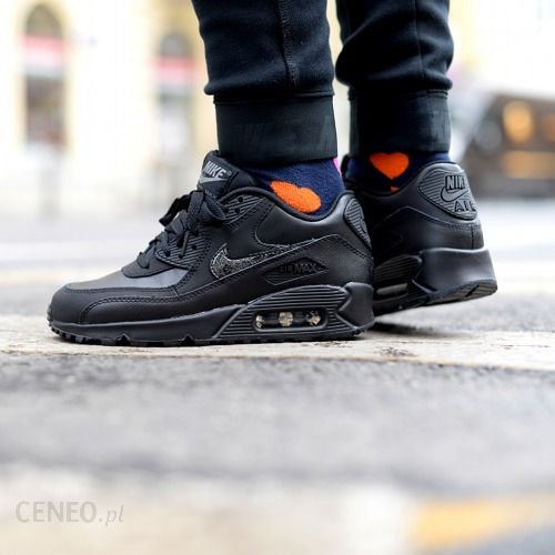 low priced eb576 dc29d ... authentic buty nike air max 90 leather gs quotall blackquot 724821  9d2d1 8223d