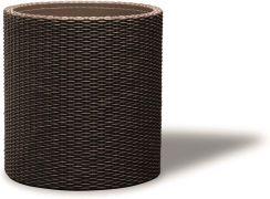 Keter Donica Cylinder Brązowa Rattan Efekt średnica 35cm