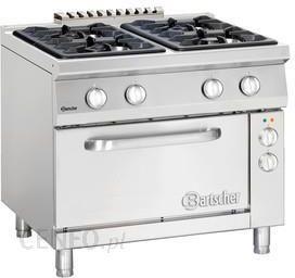 Bartscher Kuchnia Gazowa 4 Palnikowa Z Piekarnikiem Elektrycznym 2 1