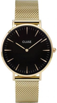 f14b1bfb105142 Cluse La Boheme Mesh Gold Black CL18110