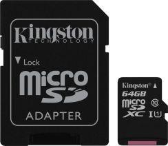 Karta Pamieci Do Aparatu Kingston Microsdxc 64gb Class 10 Sdc10g2