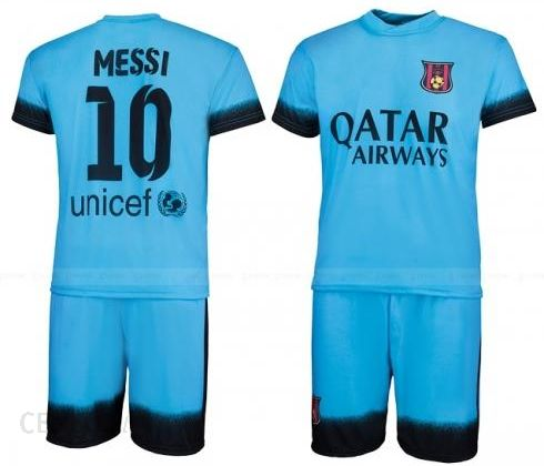 06c2d00c453516 MESSI - strój komplet piłkarski BARCELONA 2015/16 BŁĘKITNY - Ceny i ...