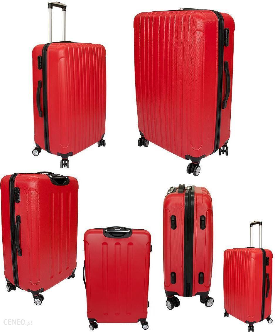 dd4d7d01d8d39 ... Luksusowa Walizka Podróżna VIVA ITALIA ŚREDNIA z poliwęglanu kolor  CZERWONA - średnia walizka czerwona - zdjęcie ...