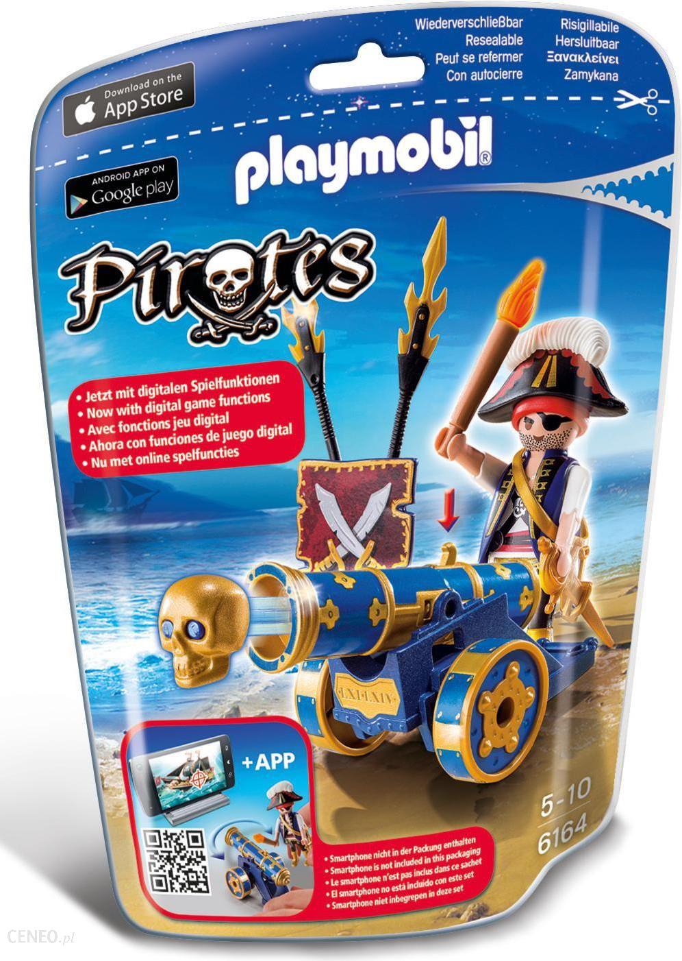 playmobil pirates pirat z niebieską armatą (6164) - ceny i