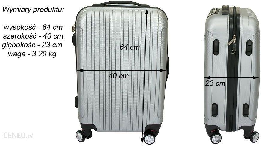 463faf9870c9b ... Luksusowa Walizka Podróżna VIVA ITALIA rozmiar ŚREDNIA z poliwęglanu  kolor CZARNA - średnia walizka czarna ...