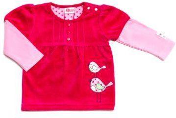 139839f247 ELTERN by SALT AND PEPPER Girls Mini Bluzka z długim rękawem  BIRDIEraspberry pink