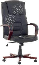 Beliani Skórzane krzeslo biurowe z masazem Fotel z masazem