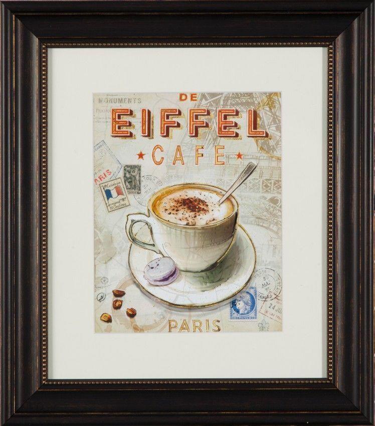 Dekoria De dekoria obraz de eiffel cafe 000 587 opinie i atrakcyjne ceny na