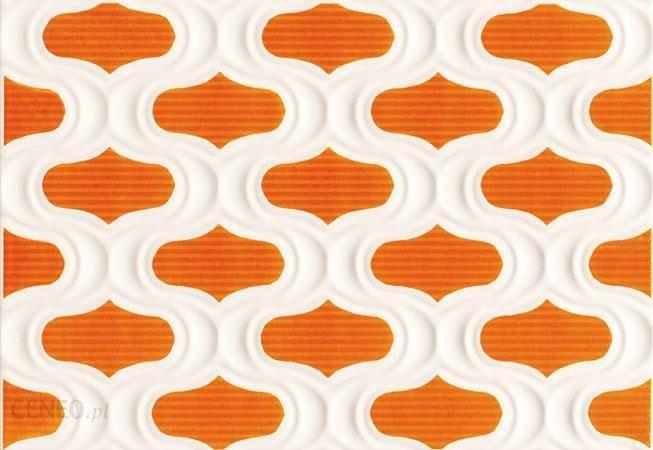 Domino Margot Pomarańczowy Str Dekor 25x36