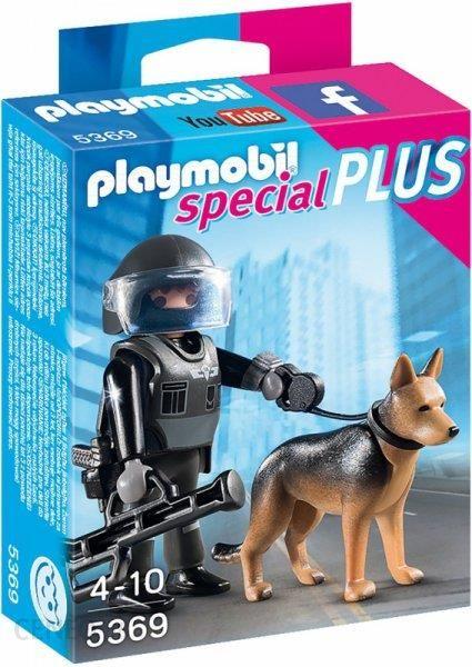 Klocki Playmobil Special Plus Policjant Oddziału Specjalnego Z Psem
