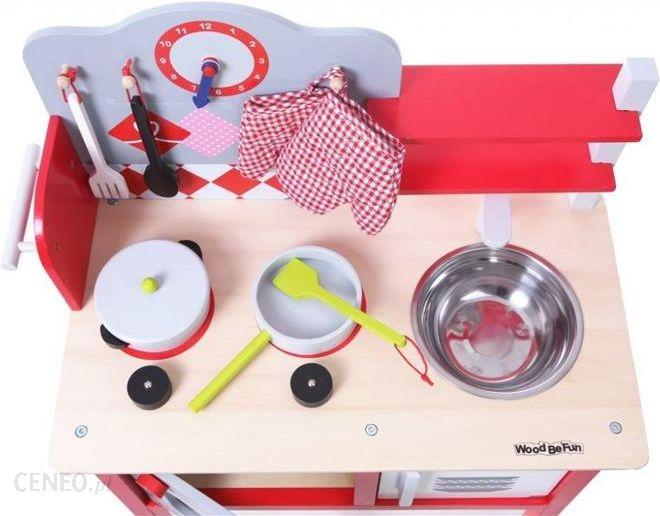 Ecotoys Kuchnia Drewniana Z Wyposazeniem Dla Dzieci 4201 Ceny I