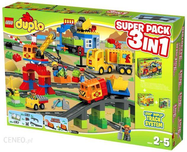 Klocki Lego Duplo Pociąg 3w1 Superpack 66524 Ceny I Opinie Ceneopl