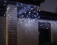 Bulinex Oświetlenie świąteczne LED zewnętrzne sopel biały 100szt