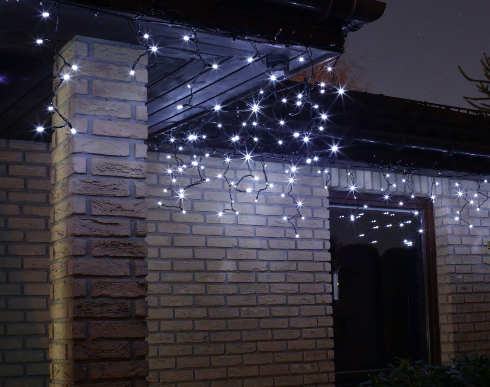 Bulinex Oświetlenie świąteczne Led Zewnętrzne Sopel Biały 100szt 38 742