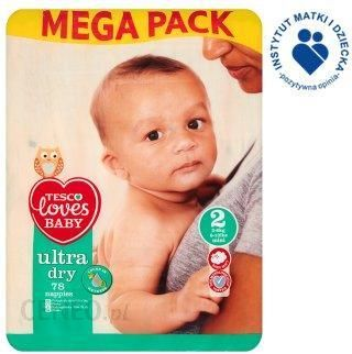 Tesco Loves Baby Ultra Dry 2 Mini 3 6kg 78 Szt Pieluszki