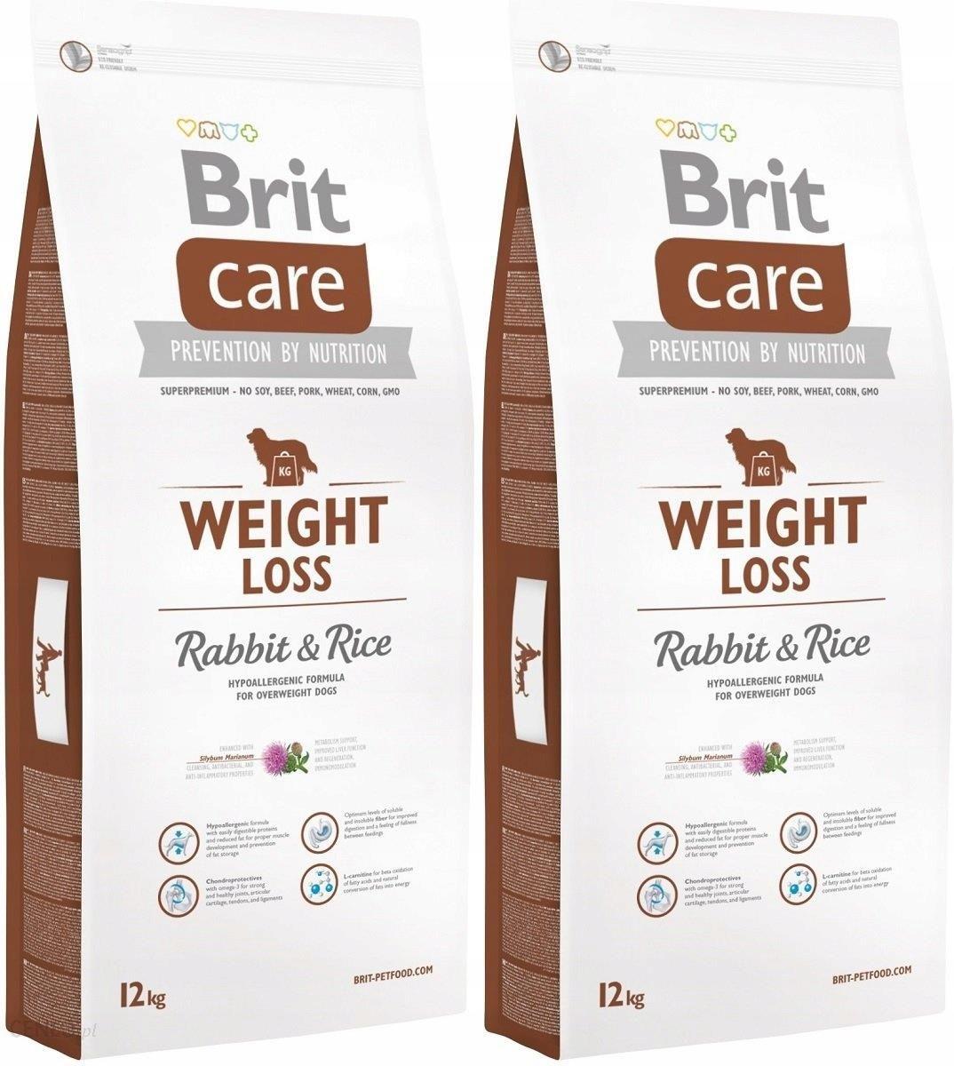Brit care câine pierdere în greutate iepure / orez 12 kg