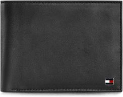f517b77e2a90f Duży Portfel Męski TOMMY HILFIGER - Eton Cc And Coin Pocket AM0AM00651  Black 002 - zdjęcie