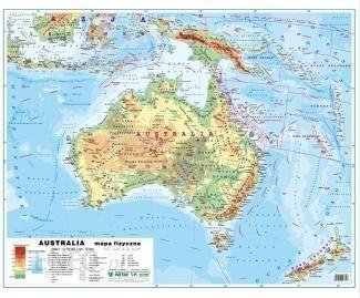 Mapa Podreczma Australia I Oceania Ceny I Opinie Ceneo Pl