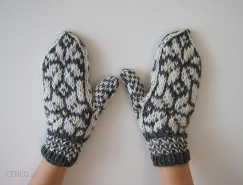 56a15de2d01809 Ciepłe rękawiczki - grube, wełniane, góralskie