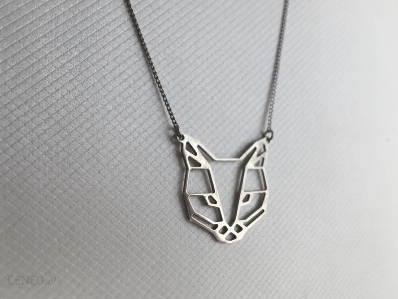 Dawanda Geometryczny Naszyjnik Kot Srebro 925 Ceny I Opinie Ceneopl