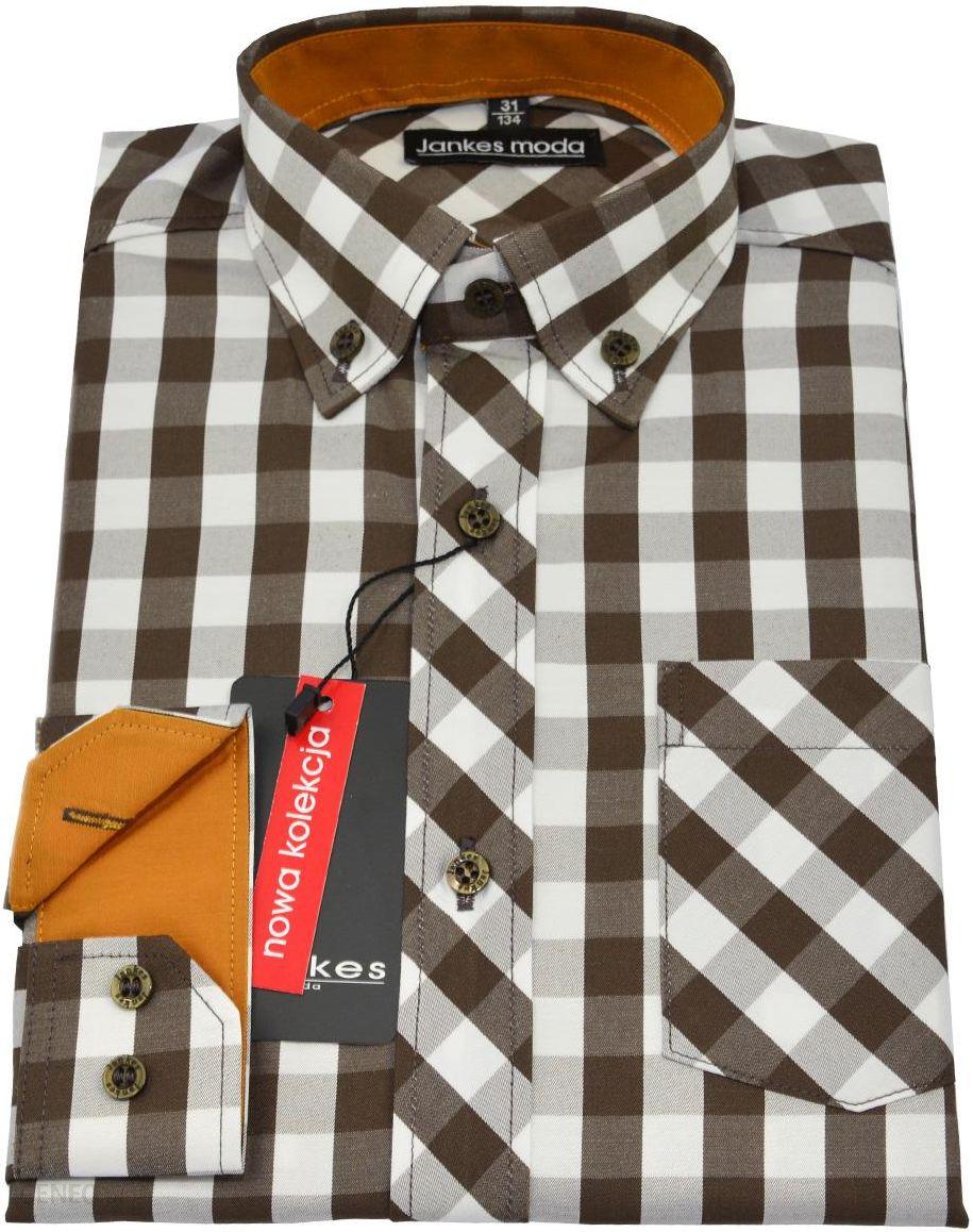 Jankes Moda Chłopięca Koszula Wizytowa W Kratkę Rozmiar 134  DBCRl