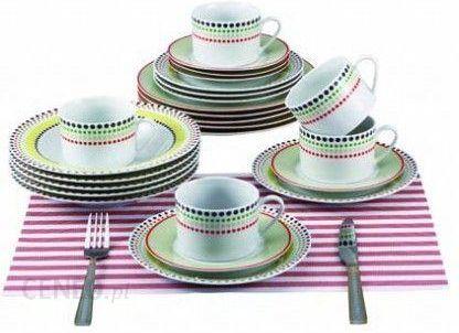 Renberg Serwis Obiadowy Zestaw 30el Kolorowe Kropki Rb 80130