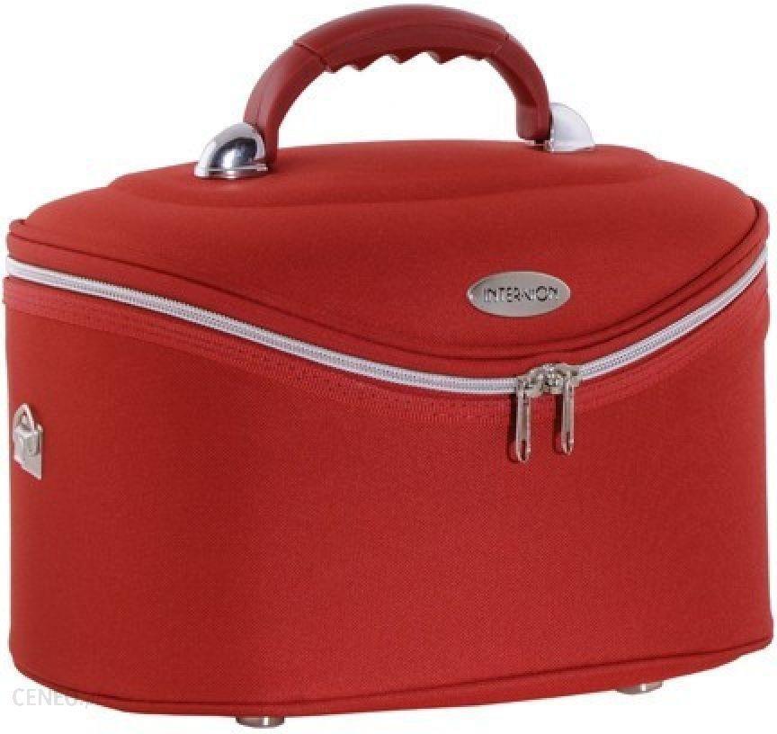 6e75784113fd1 Inter Vion Kuferek Kosmetyczny Średni Czerwony 590270 - Opinie i ...