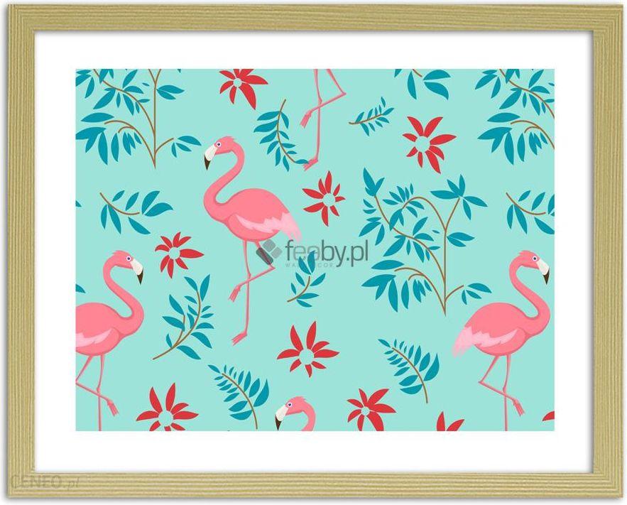 Flamingi Z Motywem Roślinnym 3 Plakaty W Ramie Naturalny Opinie I Atrakcyjne Ceny Na Ceneopl