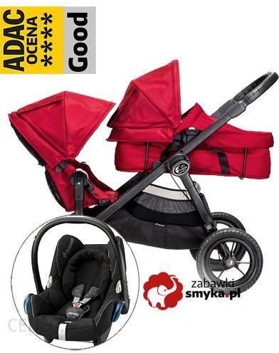 Baby Jogger City Select Red 3w1 Wielofunkcyjny Dla Dwojki Dzieci Fotelik Maxi Cosi