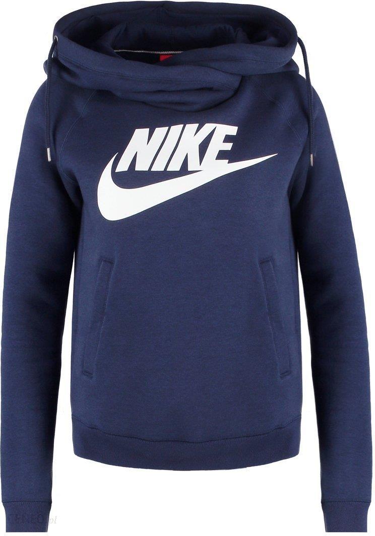 Nike Sportswear RALLY FUNNEL Bluza z kapturem obsidianwhite