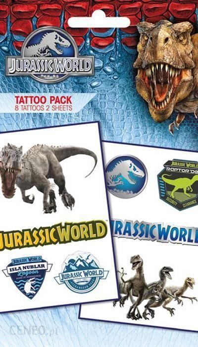 Gbeye Jurassic World Dinozaury Tatuaż