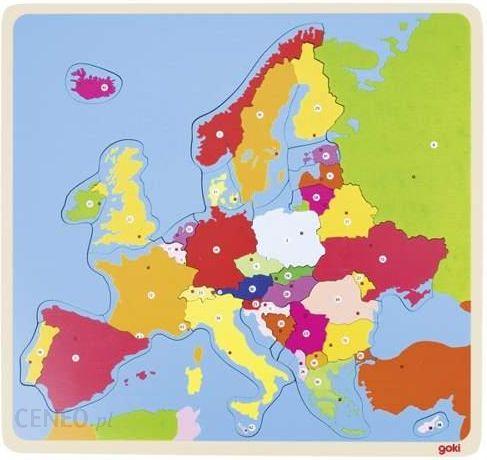 Goki Ukladanka Edukacyjna Mapa Europy 57509 Ceny I Opinie