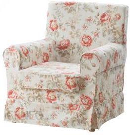 Ikea Ektorp Jennylund Pokrycie Fotela Wielobarwny Kwiaty 10224090