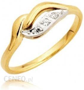 Jubiler Gustowny Złoty Pierścionek Zaręczynowy Rozmiar 22 Ceny