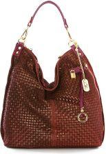 9943554c73981 Skórzana torebka Anna Morellini w kolorze bordowym - 42 x 38 x 17 cm ...