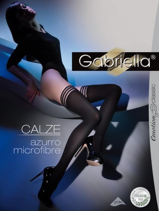 61b193efad0bcc Pończochy Samonośne Kryjące Calze Azurro Microfibra Gabriella - zdjęcie 1