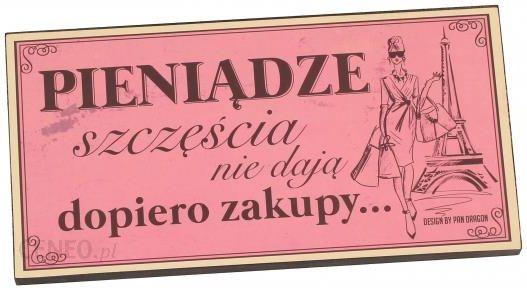 ae6952a7d17026 Tabliczka z napisem dekoracyjna drewniana PAN DRAGON ZAKUPY - rabat 10 zł  na pierwsze zakupy!
