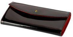 235bc8fe18787 Batycki lakierowany portfel skórzany czarno-czerwony - Ceny i opinie ...