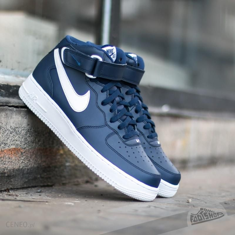 Nike Air Force 1 Mid ´07 Midnight Navy White White Ceny i opinie Ceneo.pl