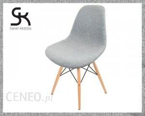 Świat Krzeseł Krzesło Tapicerowane Szare Wzór KR012DPATCHWORKSZARYDROBNY