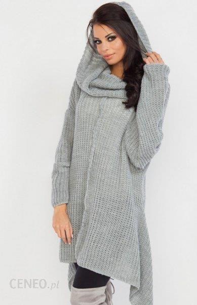 97851a9981 Fobya F224 sweter szary - Ceny i opinie - Ceneo.pl