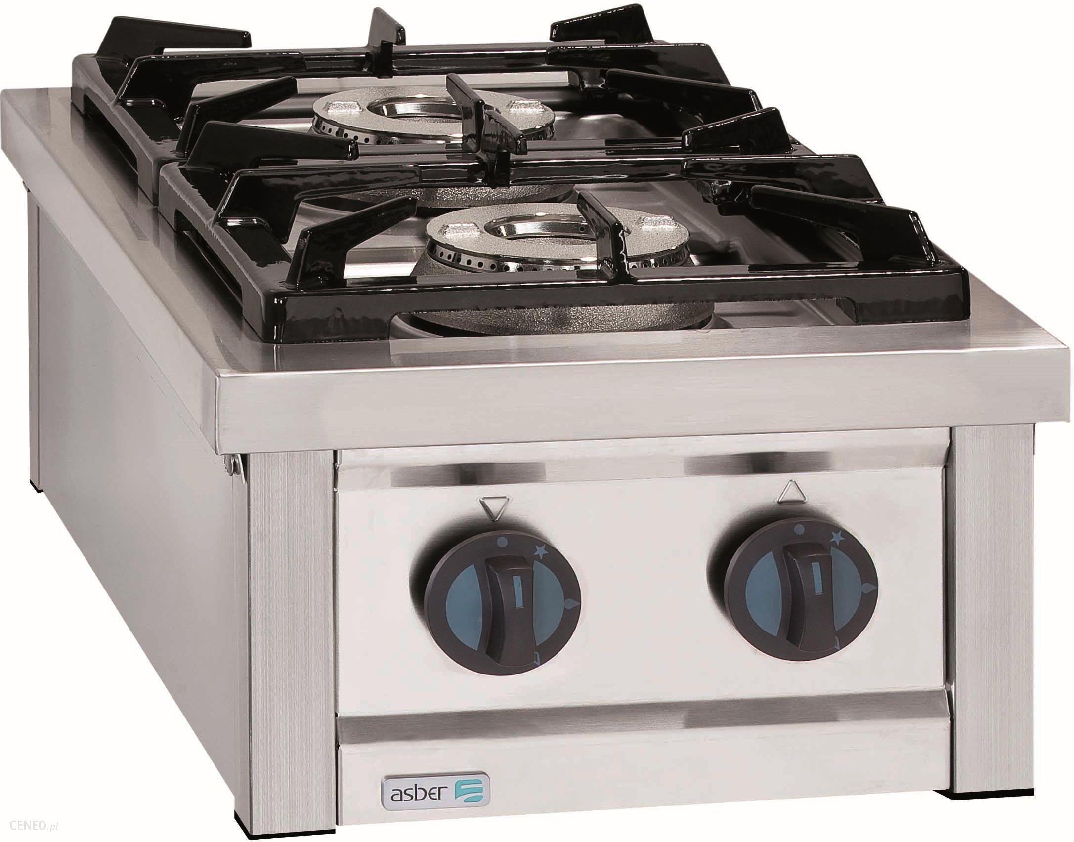 Kuchnia Gazowa 2 Palnikowa Nastawna Propan Butan 125 Kw 400x700x310 Mm Asber Eco Cook