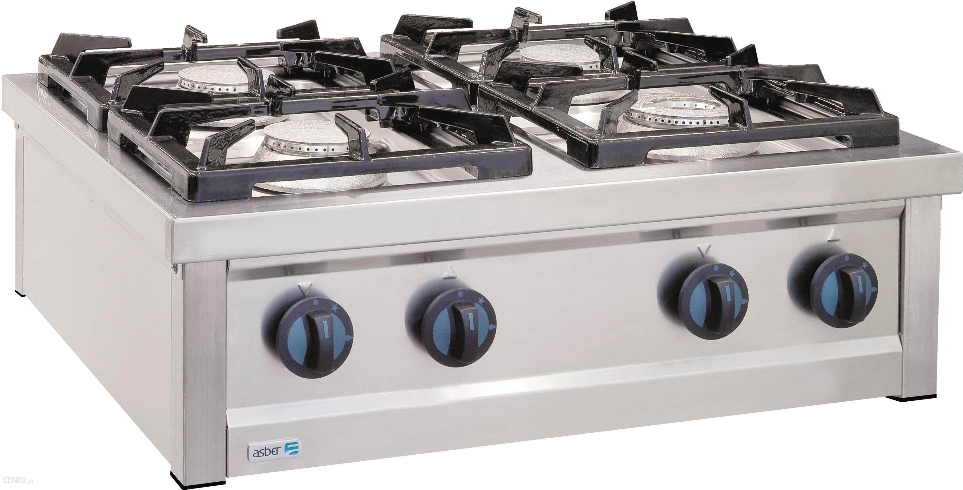 Kuchnia Gazowa 4 Palnikowa Nastawna Propan Butan 215 Kw 800x700x310 Mm Asber Eco Cook