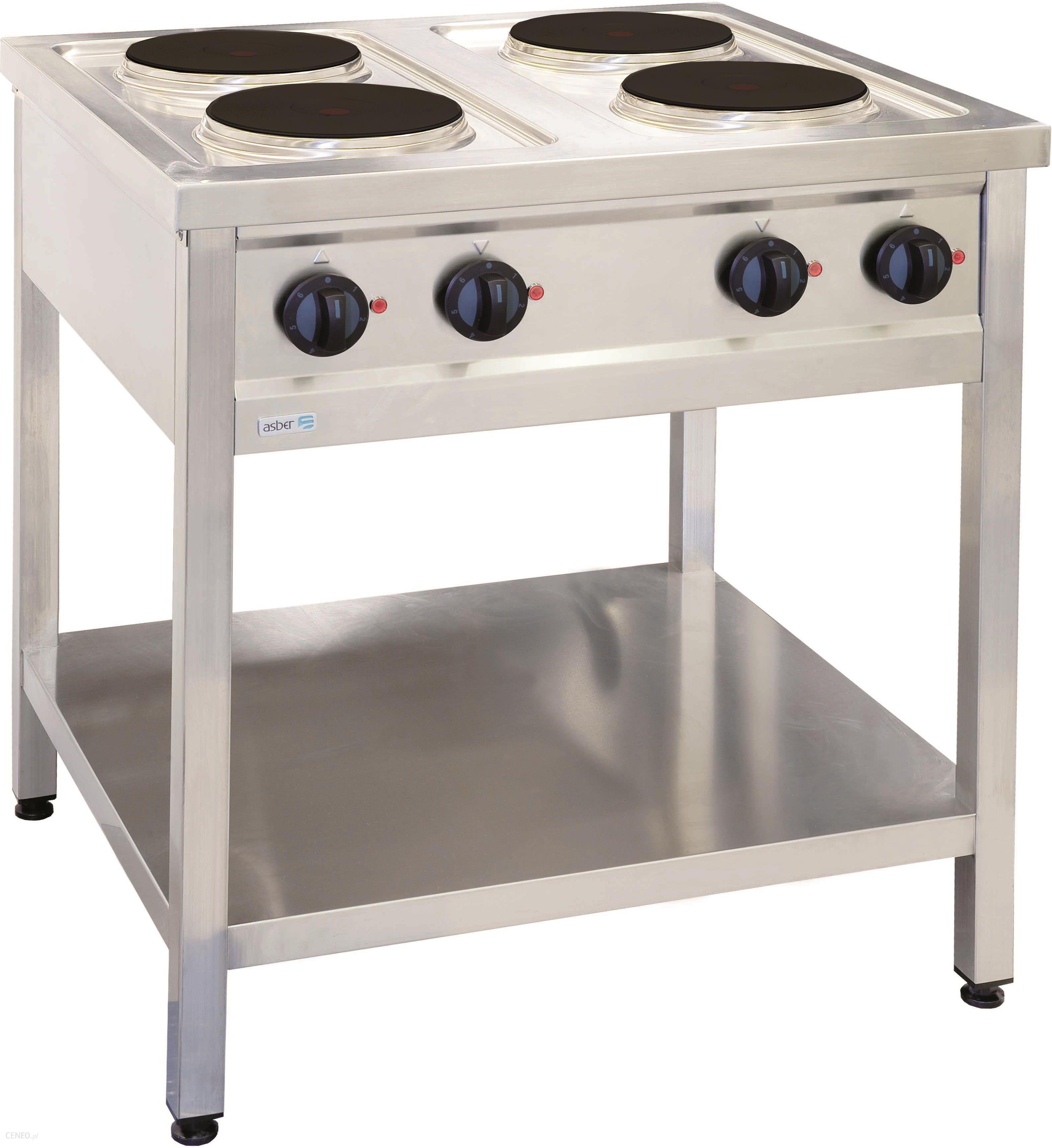 Kuchnia Elektryczna 4 Płytowa Wolnostojąca 104 Kw 800x700x850 Mm Asber Eco Cook