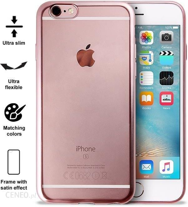puro satin cover iphone 6 6s rose gold ipc647satinrgold opinie i ceny na. Black Bedroom Furniture Sets. Home Design Ideas