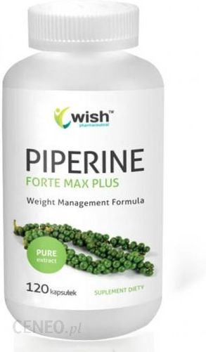 Wish Piperine Forte Max Plus Piperyna 4w1 Bioperyna 95 120kaps Opinie I Ceny Na Ceneo Pl