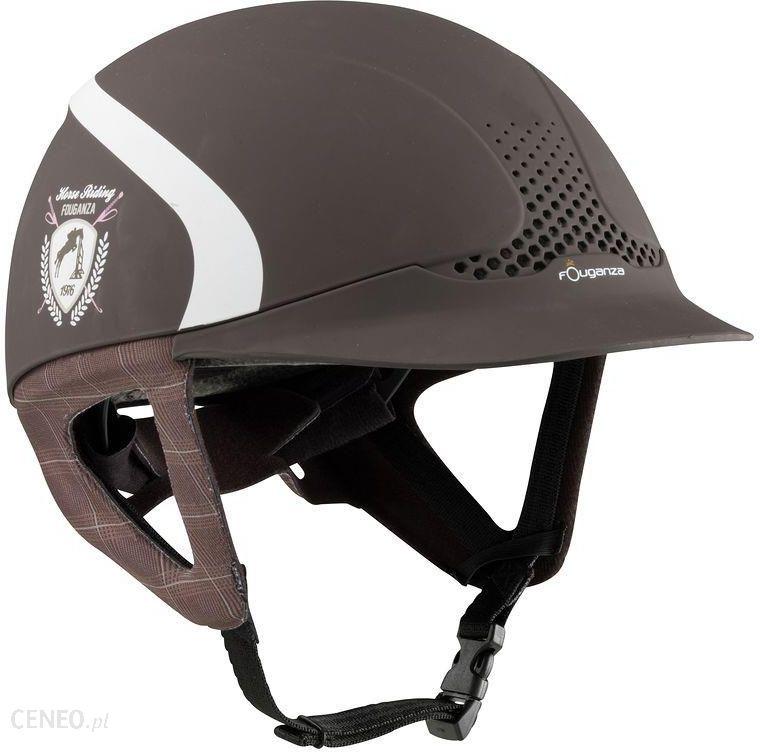 d80ee0252ef0c Fouganza Kask Jeździecki Safety Jump Brązowy - Ceny i opinie - Ceneo.pl