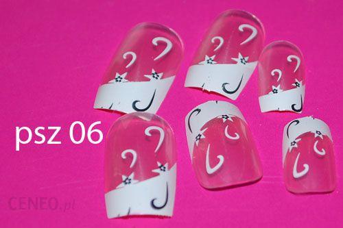 Sztuczne Paznokcie Psz06 Różowe Przezroczyste Perłowe French
